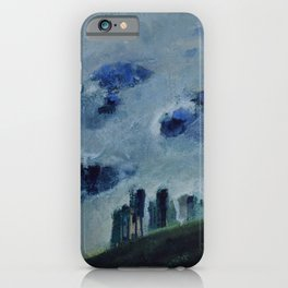 Mists in the Blue Mountains, Twilight landscape by Mikalojus Konstantinas Ciurlionis iPhone Case