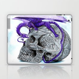 Secret's untolds- purple dragon on celtic skull Laptop & iPad Skin