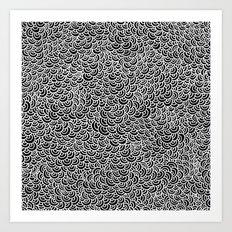 White Scallops Art Print