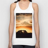 swedish Tank Tops featuring Swedish sunset by Mark W