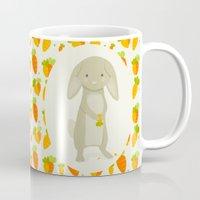 rabbit Mugs featuring Rabbit by Jane Mathieu