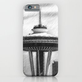 Space Needle Sketched iPhone Case