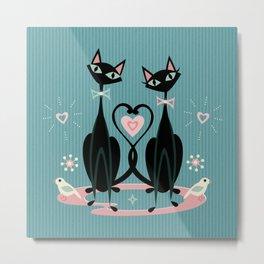Vintage Kitty Love ©studioxtine Metal Print