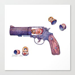 Russian Roulette Pun Canvas Print