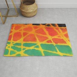 Colorful giraffe pattern Rug