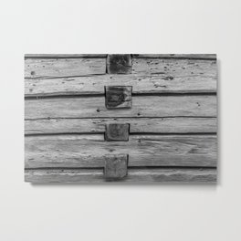 wood wall texture as background Metal Print