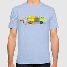 Little Mystery Machine Tri-Blue X-LARGE Mens Fitted Tee