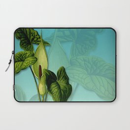 Vivid Arum & Leaves Laptop Sleeve
