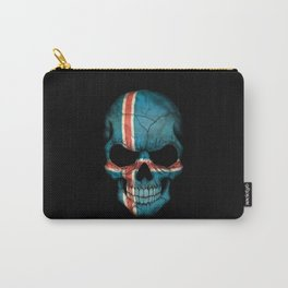 Dark Skull with Flag of Iceland Carry-All Pouch