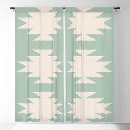 Geometric Southwestern Minimalism - Sage Green Blackout Curtain