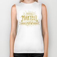 martell Biker Tanks featuring House Martell Typography by P3RF3KT