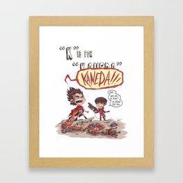 """""""K"""" Is For """"Kaneda"""" Framed Art Print"""