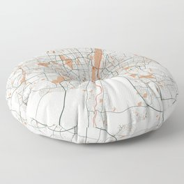 Munich City Map of Germany - Bohemian Floor Pillow