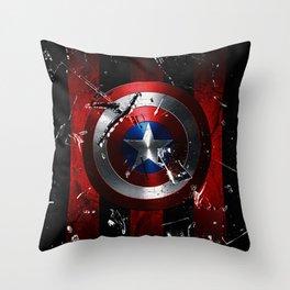 Captain Roger Shield Throw Pillow