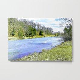 Frozen River in the Park Metal Print
