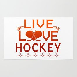 LIVE - LOVE - HOCKEY Rug