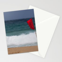 Red flag No Swimming Stationery Cards