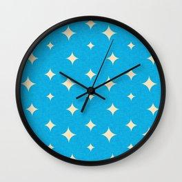 Star Blue Pearl Wall Clock