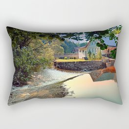 Nature, a river and colorful reflections | waterscape photography Rectangular Pillow
