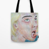 cherry Tote Bags featuring Cherry by SirScm