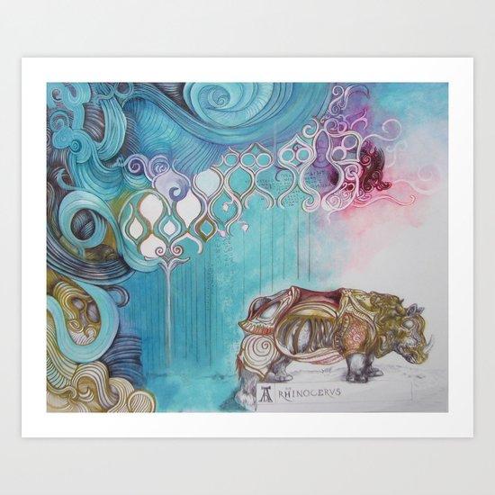 """Rhinocervs"" Art Print"