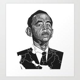 Obama's War Art Print
