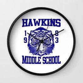 hawkins middle school Wall Clock