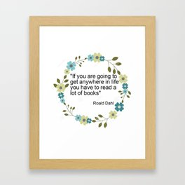 a book quote Framed Art Print