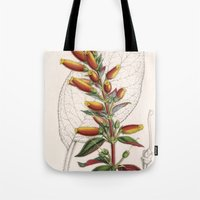 botanical Tote Bags featuring Botanical by Connie Goldman