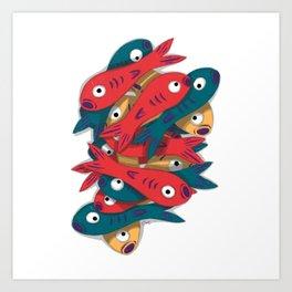 Fish Stack Art Print