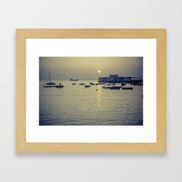 Boats at Sunset - South China Sea Framed Art Print