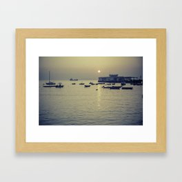 Boats at Sunset - South China Sea Framed Art Print