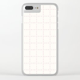 Pink and cream Polka Dot Pattern Print Clear iPhone Case