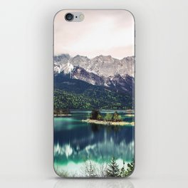 Green Blue Lake and Mountains - Eibsee, Germany iPhone Skin