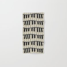 Rock And Roll Piano Keys Hand & Bath Towel