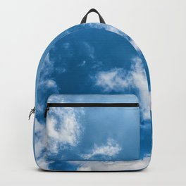 Texture of blue sly with white clouds at the sunny day Backpack