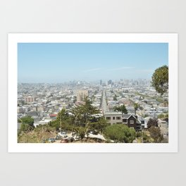 Almost all of San Francisco Panorama as seen from Bernal Heights Hill Art Print