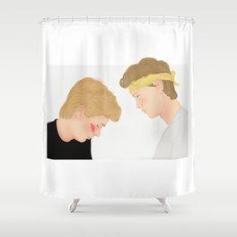 Skam, Isak and Even | Evak Illustration Shower Curtain