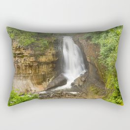 Miners Falls - Pictured Rocks Waterfall, Michigan Rectangular Pillow