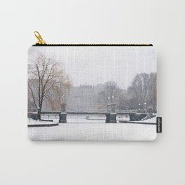 Snow falling in a city park, Public Garden, Boston Carry-All Pouch