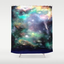 Starry Night by Nicole Whittaker Shower Curtain