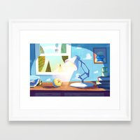 pixar Framed Art Prints featuring Pixar by The Fox And King