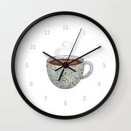 queen anne's lace tea cup - coffee cup series Wall Clock