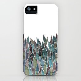 Plants decorations shades of green and purple watercolor iPhone Case
