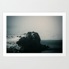 Foggy Cliff Art Print