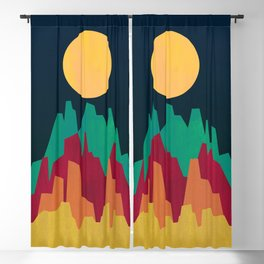 Rocky Landscape Blackout Curtain