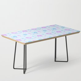 Chickadee Bird Butterfly Floral Purple Lavender Blue Coffee Table