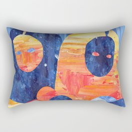 Learning to be okay Rectangular Pillow