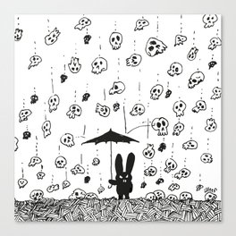 I'm only happy when it rains (skulls) Canvas Print