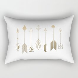 Be Brave Little Arrow (gold) Rectangular Pillow
